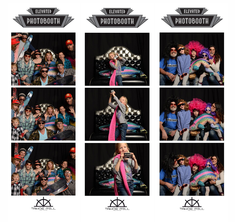 """A collection of 2""""x6"""" photo strips from the Tahoe Mill Spring Block Party"""