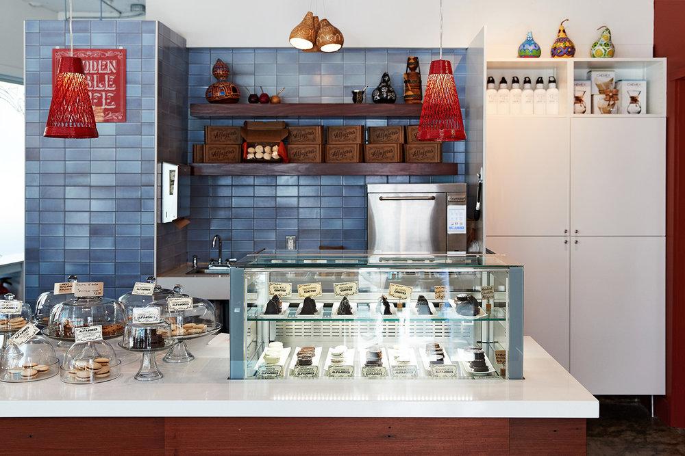 Wooden Table Cafe Lejarraga Studio