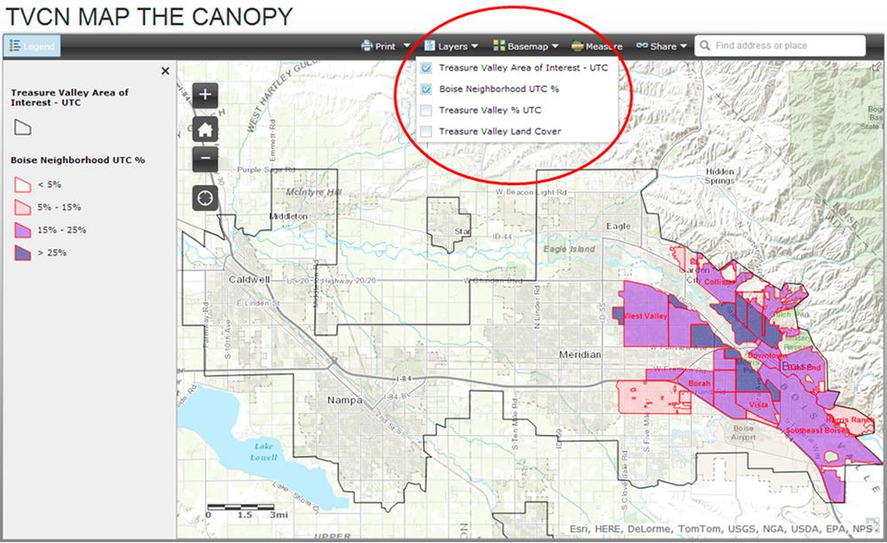 Boise Neighborhood UTC %  sc 1 st  Treasure Valley Canopy Network & Map the Canopy u2014 Treasure Valley Canopy Network
