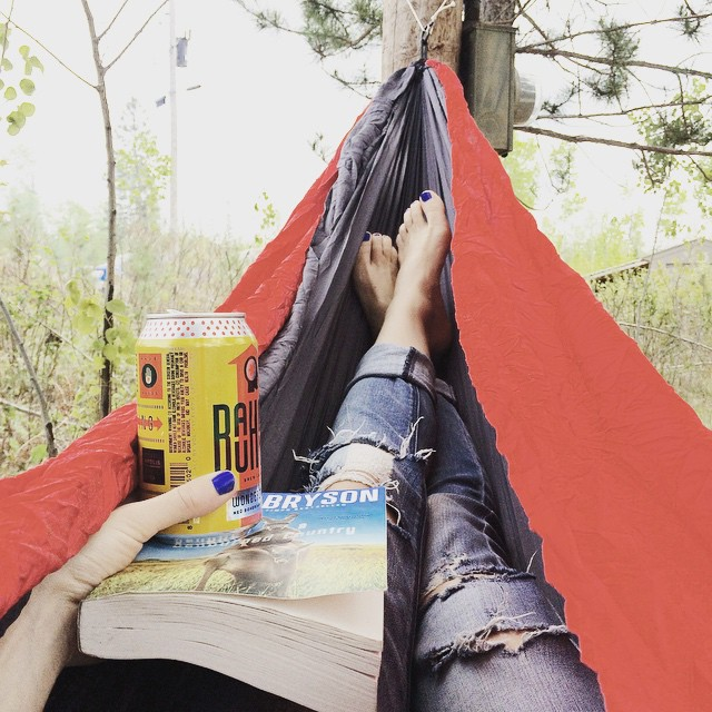 thanks to all who came out this weekend! after a super busy couple of weeks, it's time to #chill. #calmafterthestorm #billbryson #bauhaus #hammock #northwoods