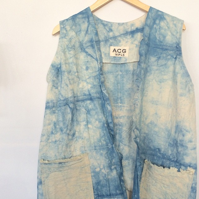this long #handdyed #indigo #duster vest is a @gallery360mpls exclusive item! one of a kind, available this Thursday at the #springtrunkshow