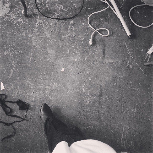 concrete. #floorselfie #studio