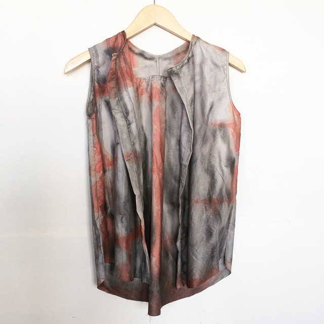 RAINY TRAFFIC BLOUSE #mplsseries #no2 #handdyed #frenchseams