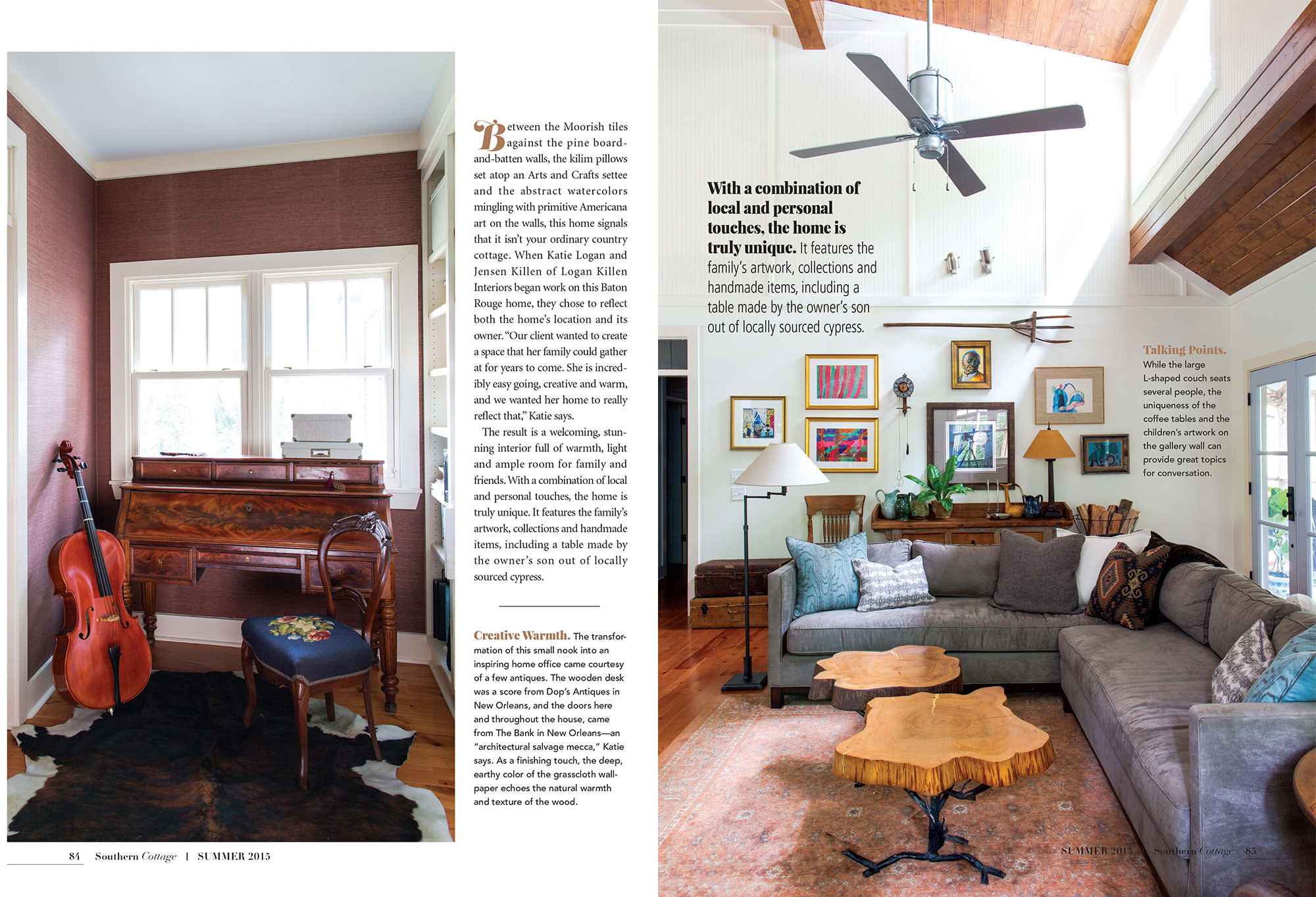 Southern Cottage — Logan Killen Interiors