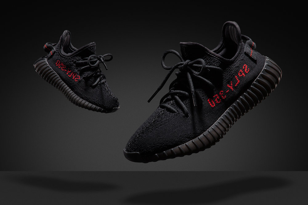 Images created for Philip Browne Menswear for the Launch of the Yeezy 350 v2 Black/Red