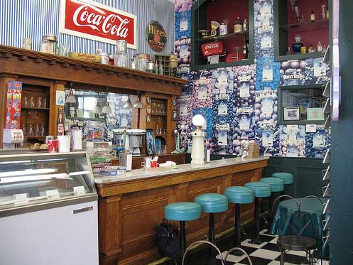 The Soda Fountain in Scott Valley Drug Store