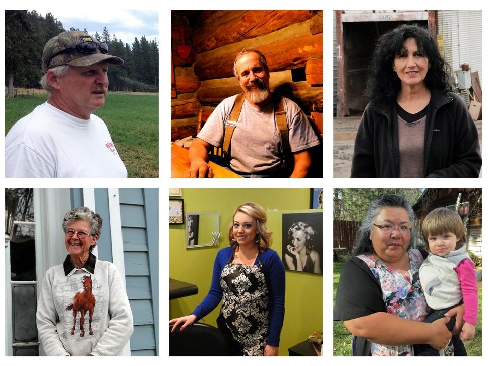 (L-R) Tom Menne, Ric Costales, Rosario Aragon, Melanie Fowle, Prairie Spaulding, Mary Carpelan