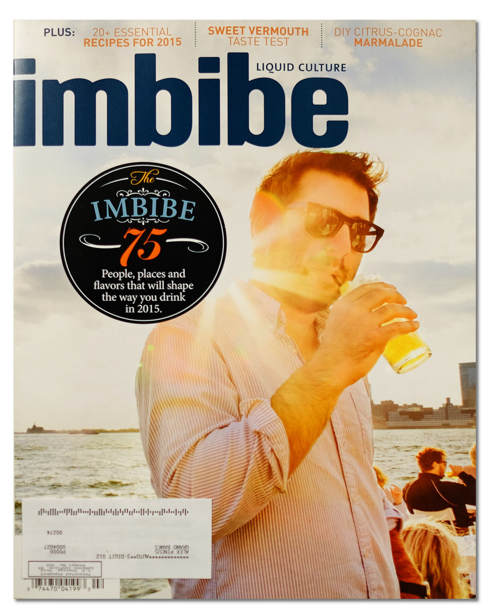 Grand Banks Co-Founder Alex Pincus on the cover of Imbibe