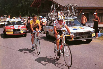 Herrera and Hinault go head to head in 1985 on the slopes to Avoriaz.