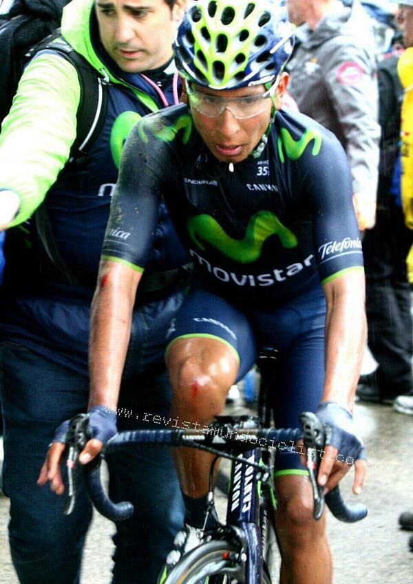 Seems like Quintana also paid a visit to the wet tarmac