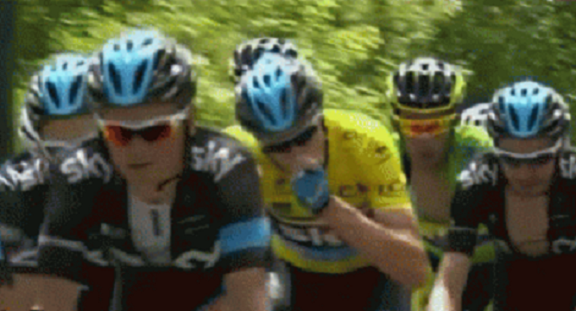 Froome did inhale.