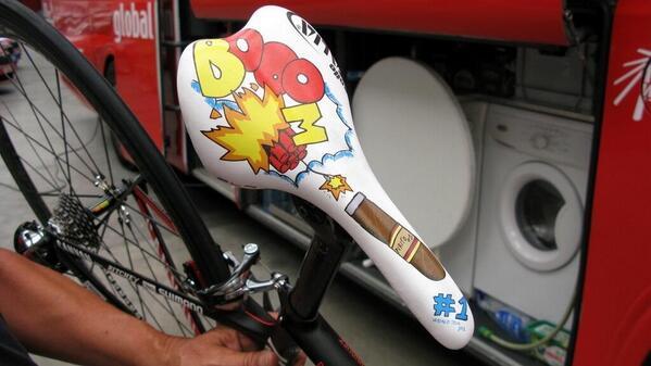 Rodriguez's BOOM saddle. UGH.