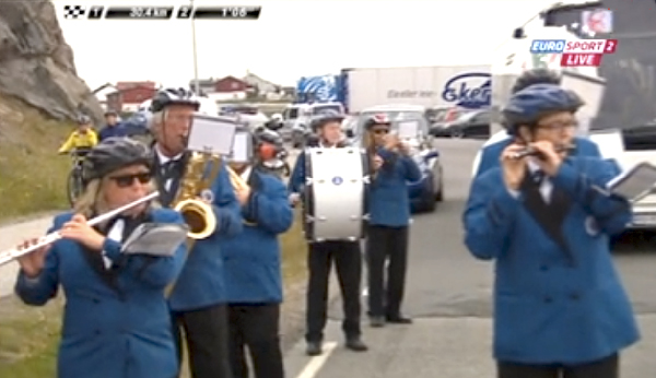"Being in a marching band in Norway is a very dangerous activity. The controversial ""Band-Helmet Law"" was finally passed last April."