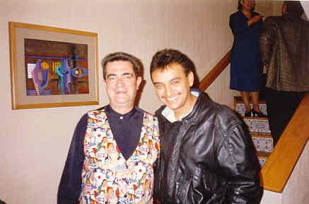"""En esta carrera de la música, de pronto podemos ver de cercaa algunos artistas que admiramos....aquí con Manuel """"flaco"""" Ibáñez."""