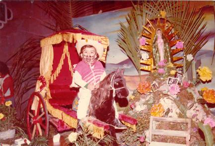 El 12 de Diciembre, participécon esta caracterización para el desfile Guadalupano.