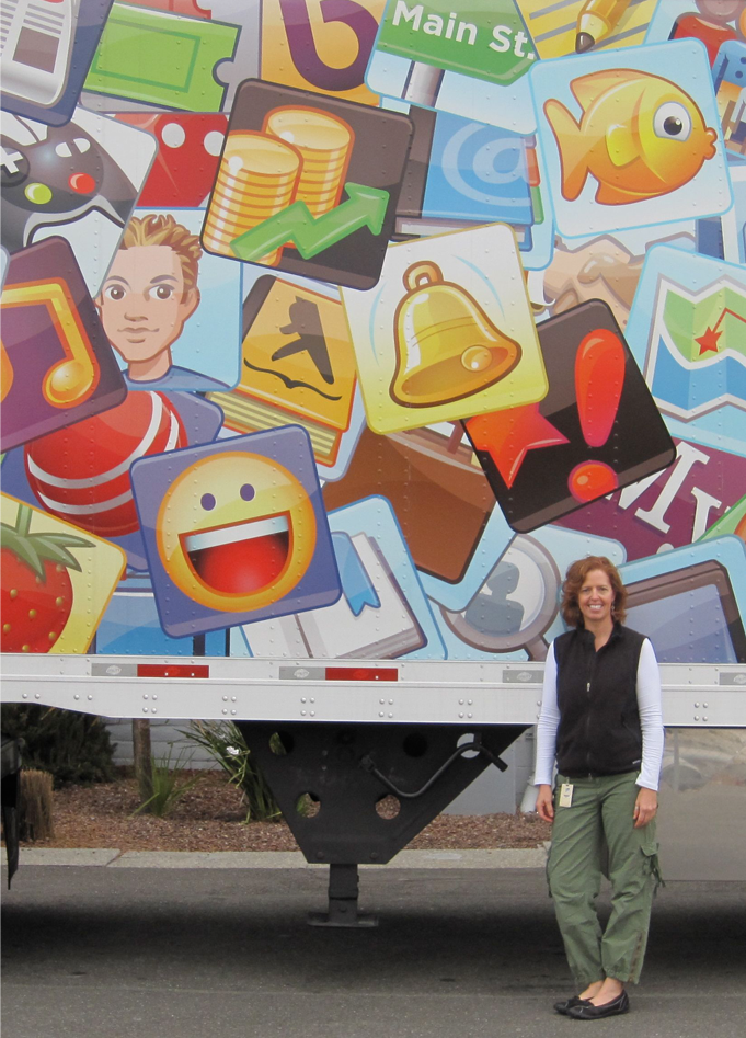 Truck Wrap - Wonderful to see semi-trucks wrapped with my icons.