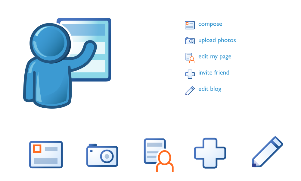 Blog and Tool Icons -