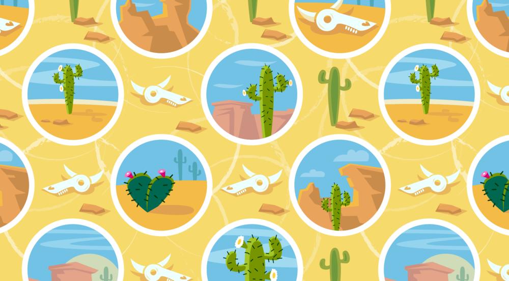 desert dots fabric