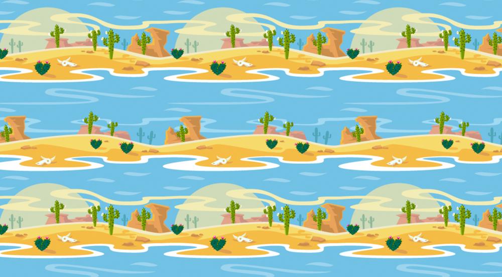 desert oasis fabric