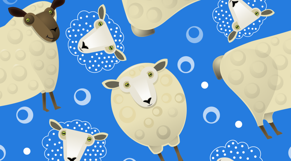 counting sheep fabric