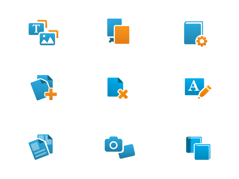 blurb software icons
