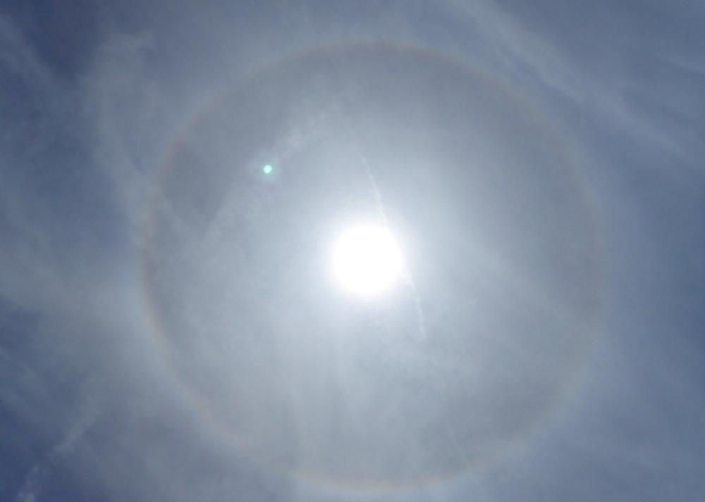 Sun rainbow!