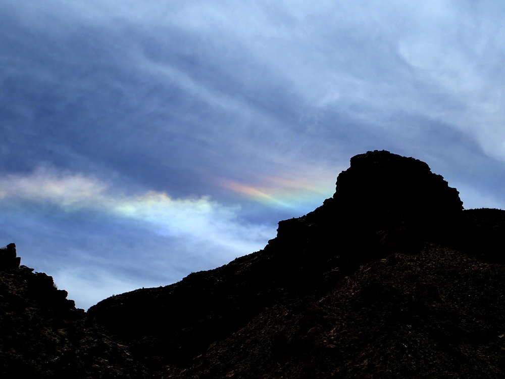 My first time to see a 'Sundog' or Fire rainbow. It was particularly HOT this day