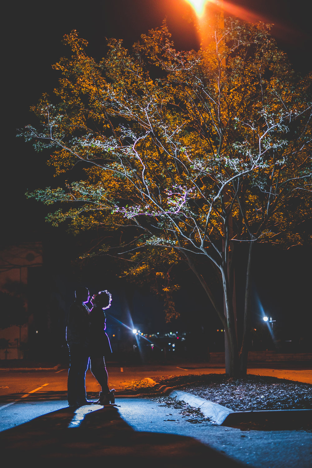 Downtown River Walk Engagement Portraits