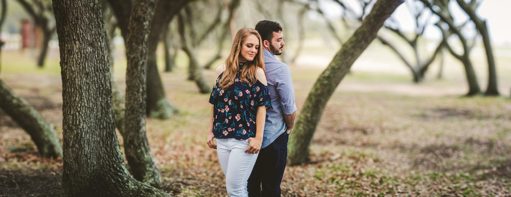 Panorama from Fort Fisher with a couple that is very much in love before their wedding day