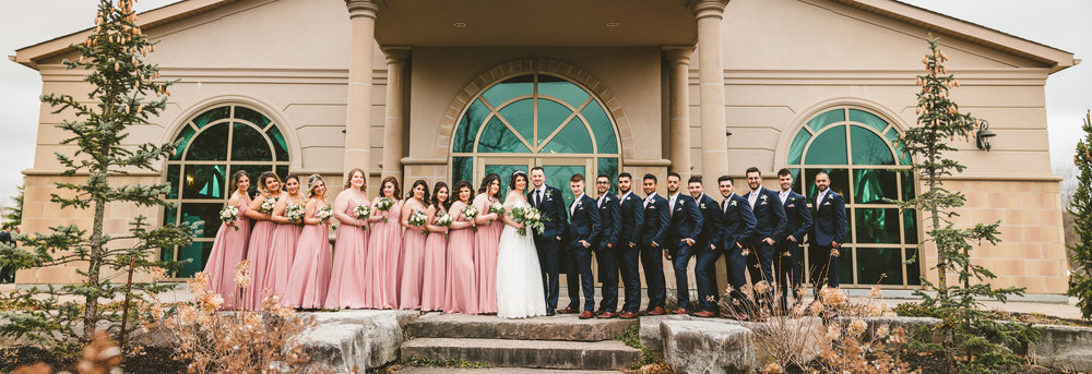 Epic Bridal Party portrait in Canada