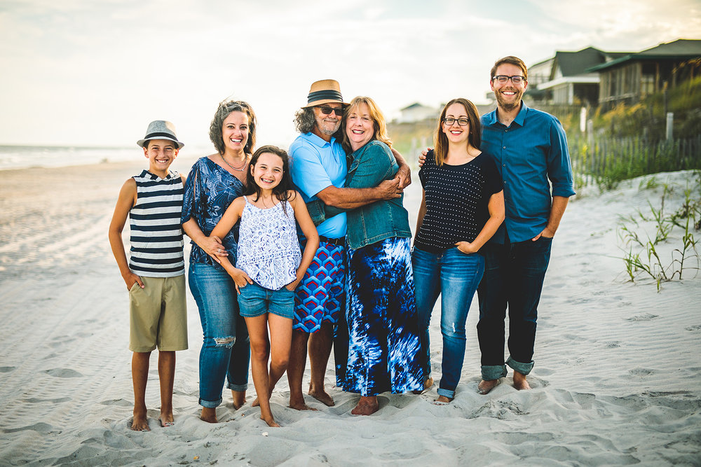 Topsail Beach Family portrait