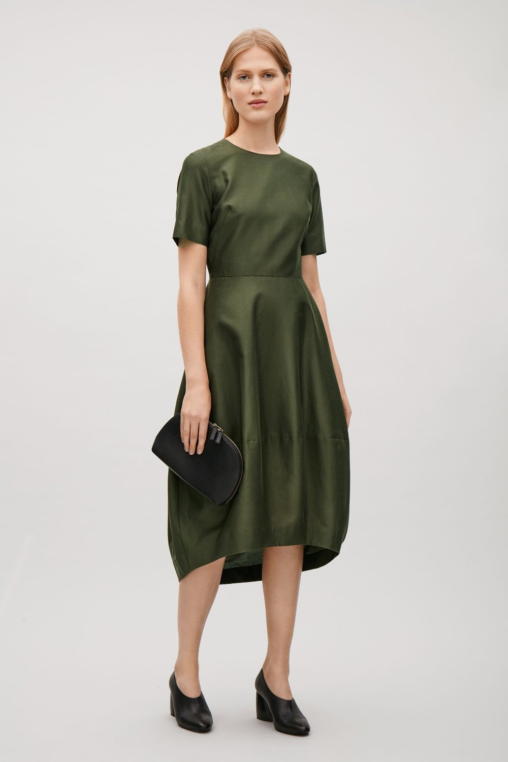 COTTON-SILK DRESS   $135 | COS