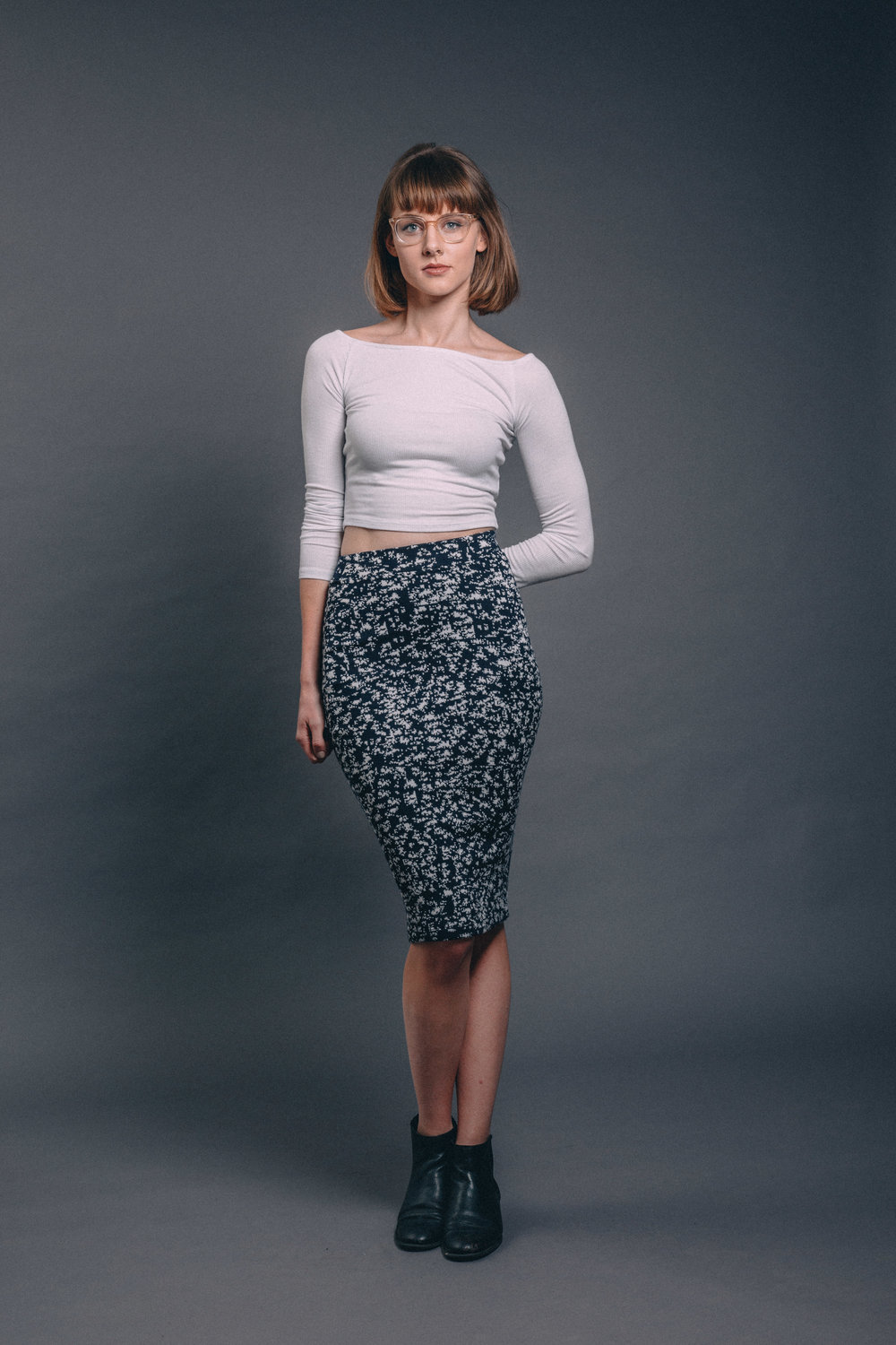 Delacy   knit pencil skirt //   Joah Brown   icon crop