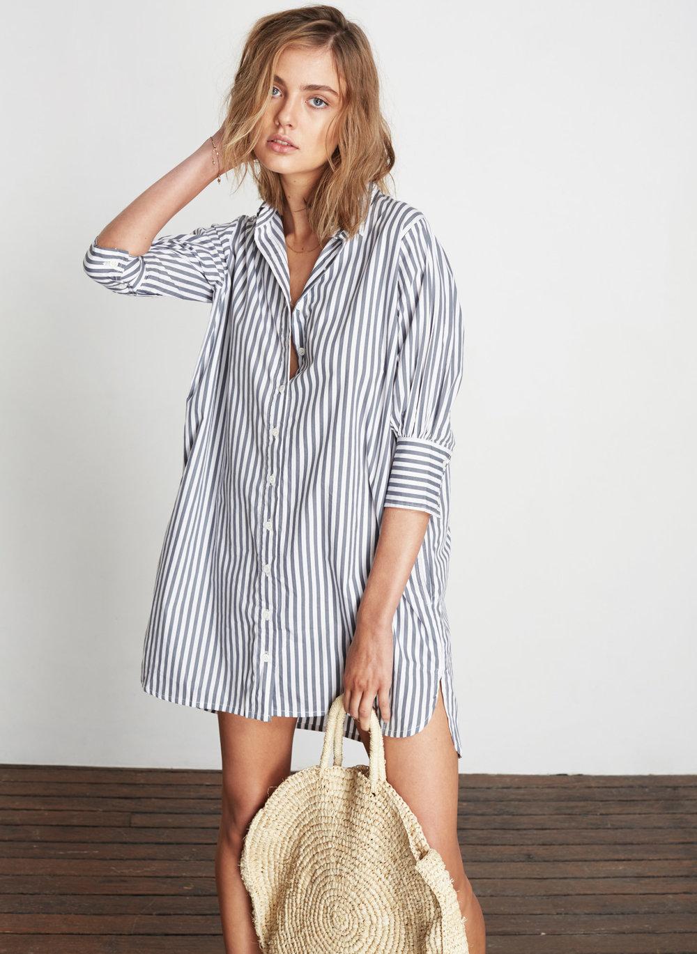 100% Cotton shirt dress by   faithfull