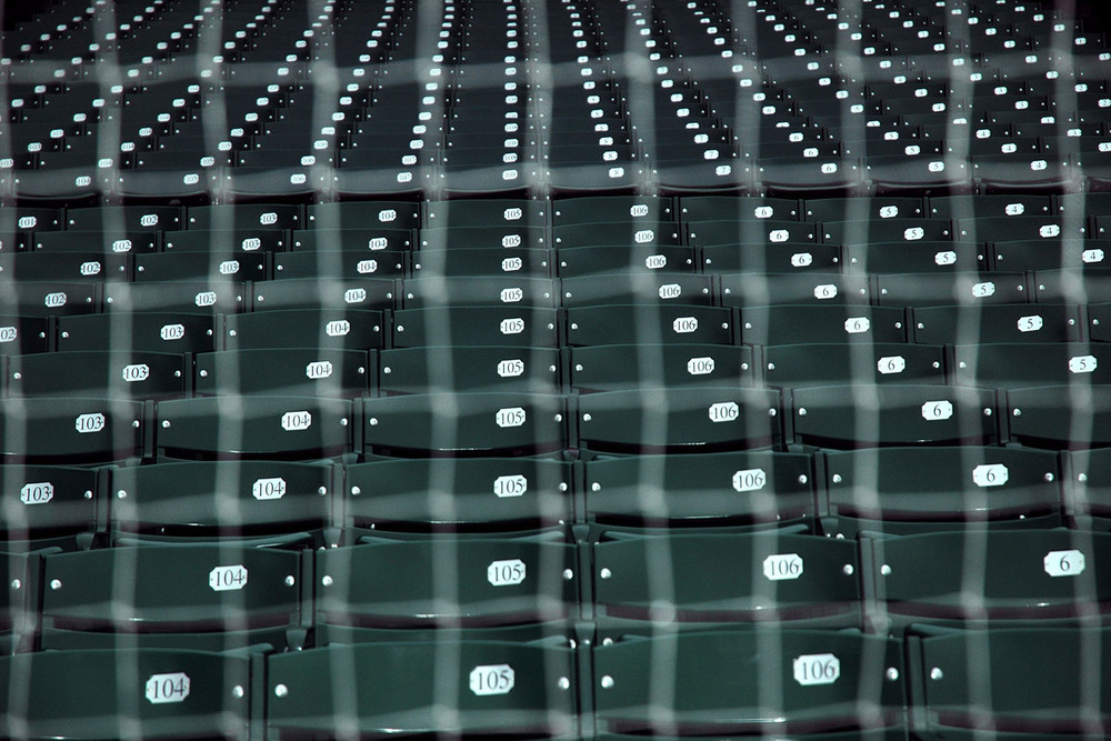 Image Title:  Wrigley Field Seats   Mat Sizes:  8x10, 11x14, 16x20  F loat Mount Sizes:  12x18, 16x24, 20x30, 24x36, 28x42, 32x48, 36x54, 40x60.