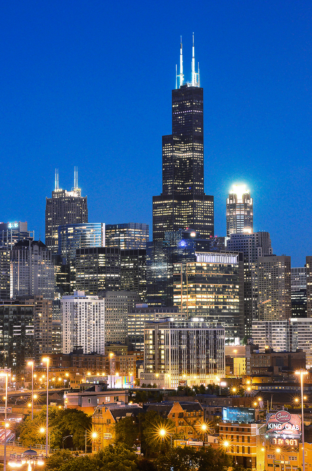 Image Title:  Willis Tower   Mat Sizes:  8x10, 11x14, 16x20   Float Mount Sizes:  12x18, 16x24, 20x30, 24x36, 28x42, 32x48, 36x54, 40x60