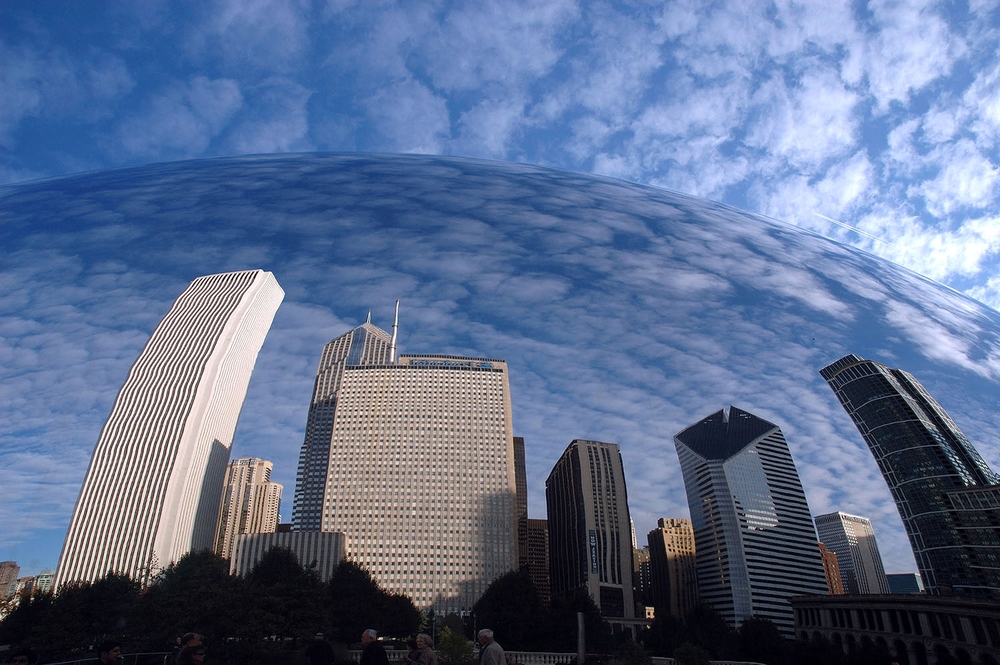 Image Title:  Cloud Gate (The Bean) - Reflections   Mat Sizes:  8x10, 11x14, 16x20   Float Mount Sizes:  12x18, 16x24, 20x30, 24x36, 28x42, 32x48, 36x54, 40x60.