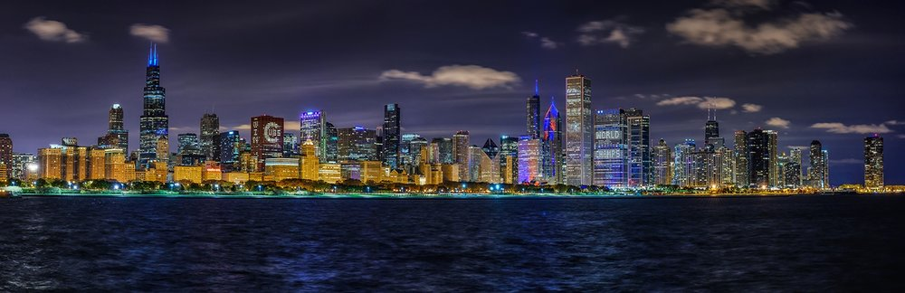 Chicago Skyline - Cubs