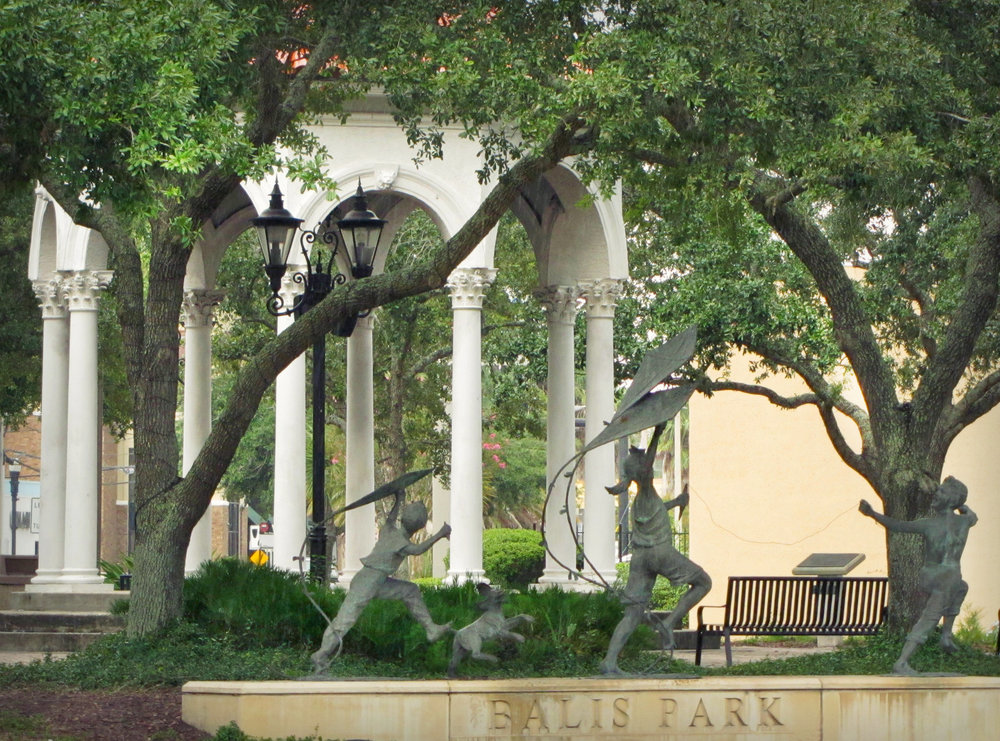 jacksonville florida san marco balis park gazebo sculptures