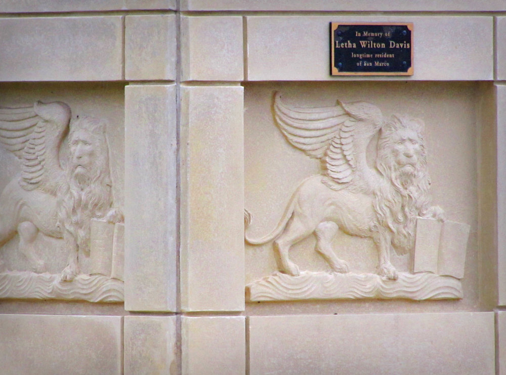 jacksonville florida san marco winged lions bas-relief