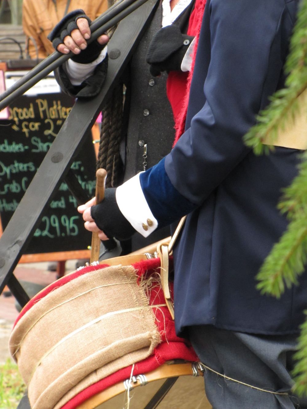 drummer in historic costume
