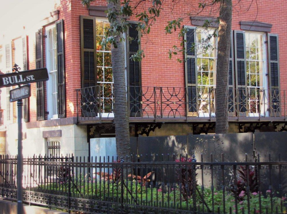 iron fences Bull Street Savannah