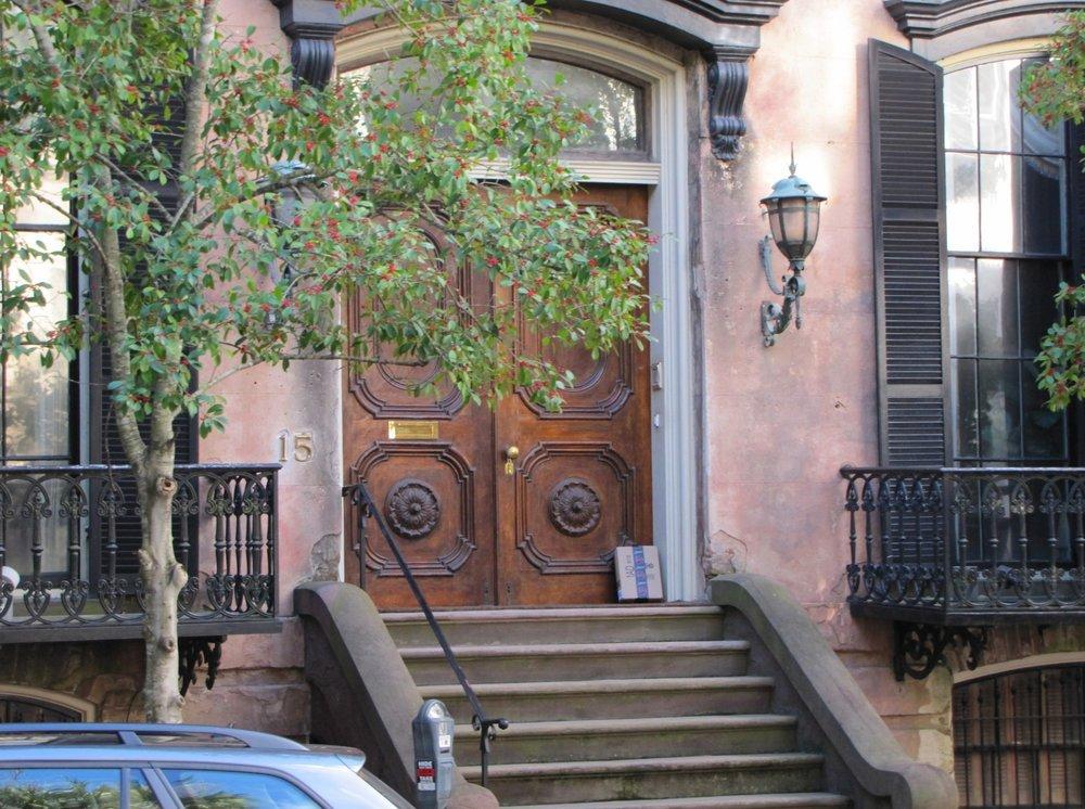 ornate door and porch in Savannah Georgia