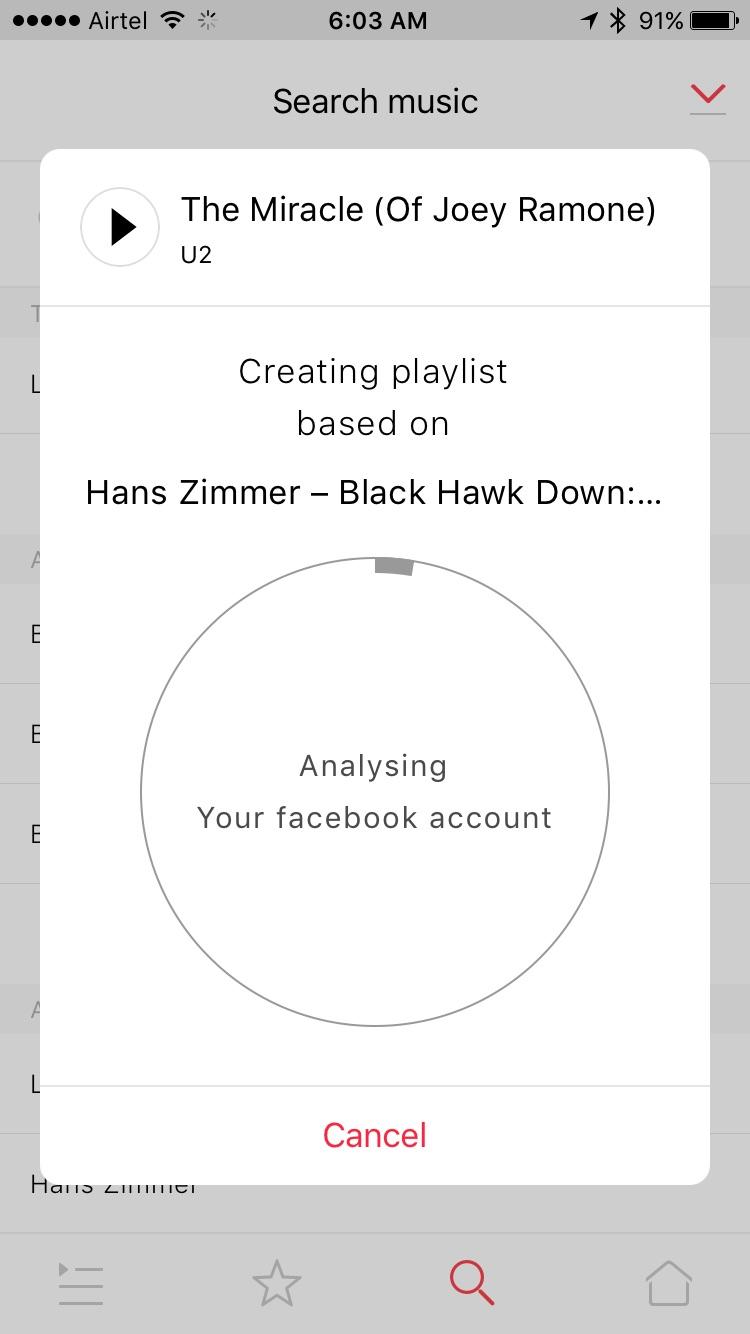 Creation of Playlist
