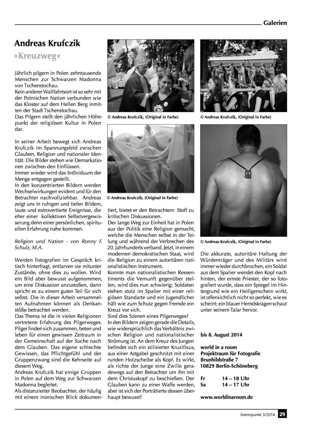 Brennpunkt 3/2014 Artikel- Kreuzweg