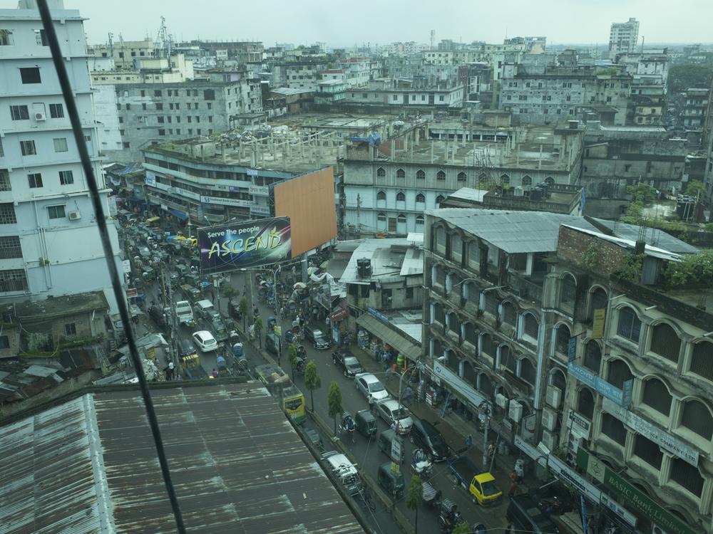 Die Skyline von Chittagong