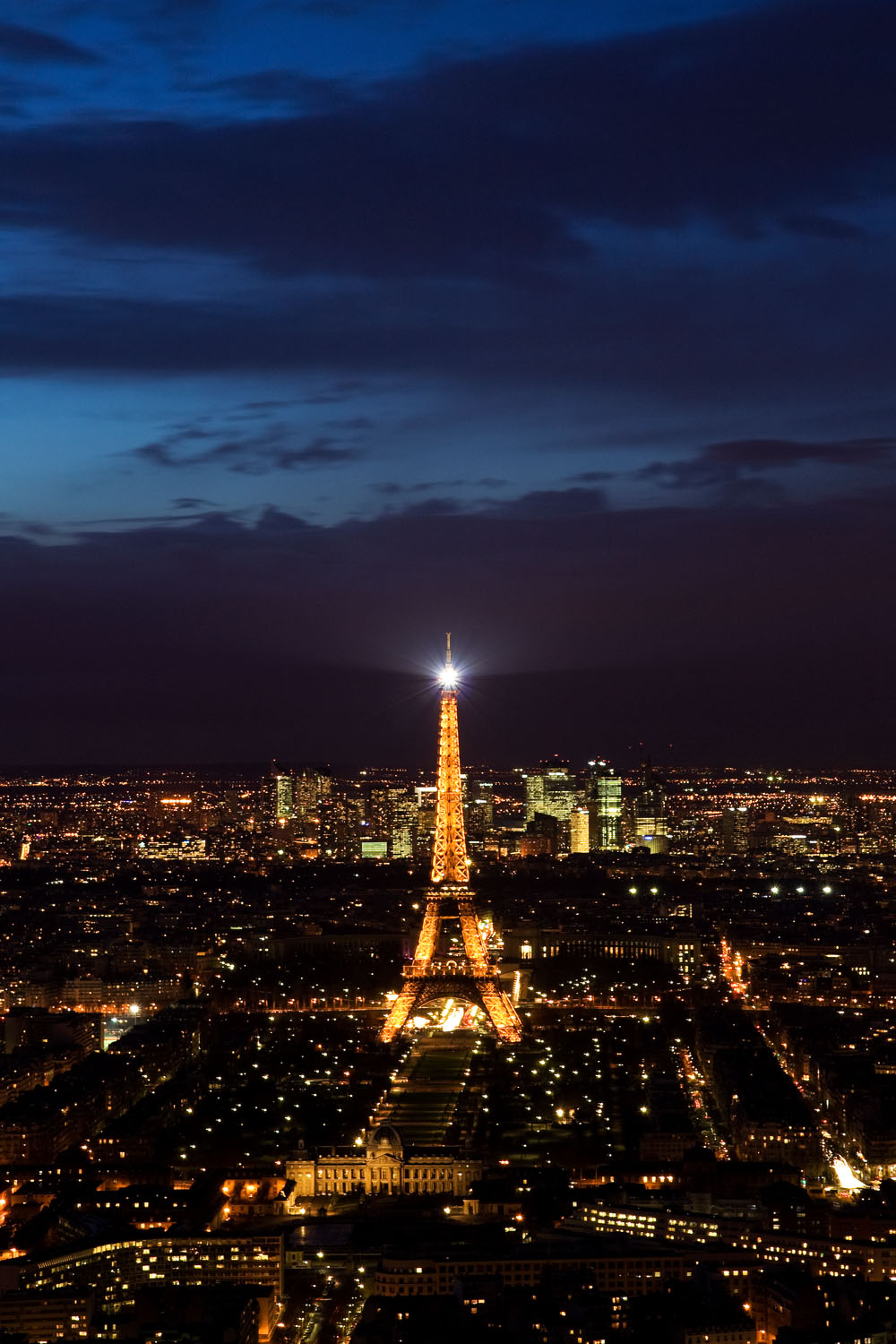 View of Eiffel Tower from Montparnasse Tower - Paris, France