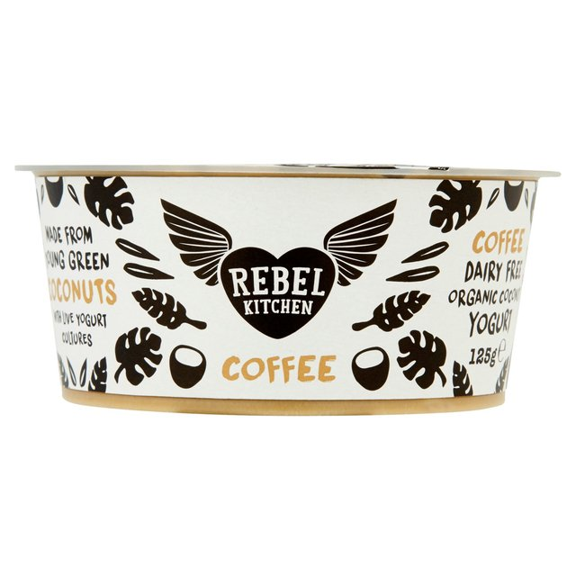 Rebel Kitchen - This coffee flavoured organic yoghurt made from young green coconut meat with live vegan cultures is the perfect partner for our Cocoa & Walnut Quinoa Oat Crunch granola.