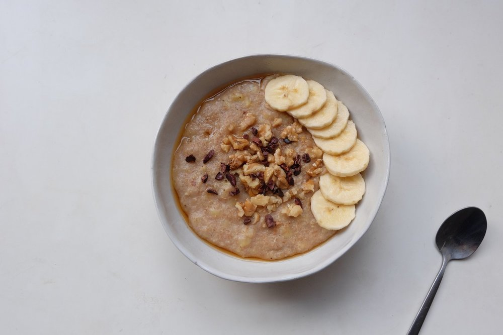 Caramelised Banana Porridge