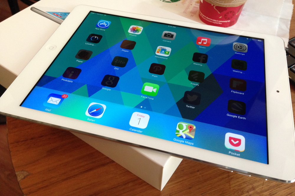 Unboxing my new iPad Air back in November 2013